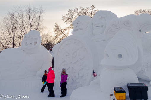 St Paul Winter Carnival snow sculptures_Staats