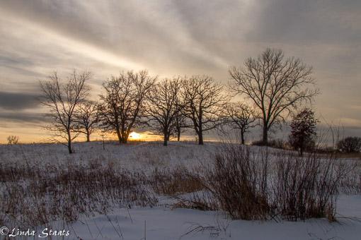 Winter sunset on the prairie_Staats