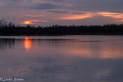 Sunset over Inguadona Lake_Staats
