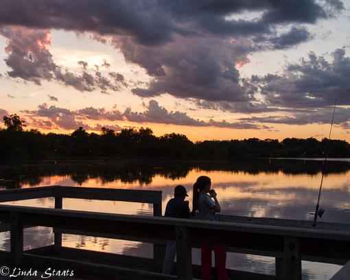Fishing at sunset Como Lake_Staats