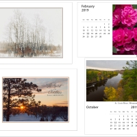 Holiday cards and 2019 desk calendars